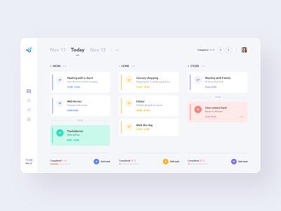 #1 - 1DT - Dashboard schedule management branding webapp list time day manager tasks task modern clean app minimalism flat design website ui ux application
