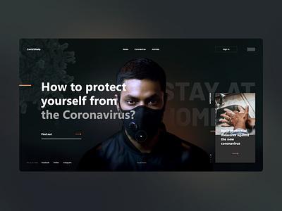 #82 Shots for Practice medicine coronavirus virus patient mask help black web web design concept dark graphic minimalism homepage design website ux ui