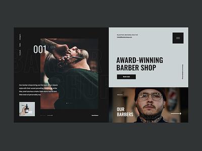 #85 Shots for Practice concept typography graphic flat beard hairdresser barbershop barber minimalism homepage design website ux ui