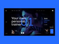 #88 Shots for Practice webdesigner web black blue flat minimalism homepage home workout training trainer gym webdesign design website ux ui