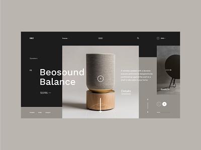 #89 Shots for Practice music concept webdesign speakers modern dark design flat clean minimalistic typogaphy ecommerce store homepage website ux ui