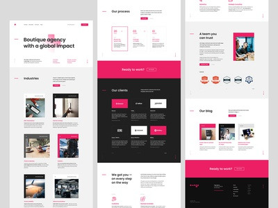 #3 Digital agency landing page softwarehouse branding web typography white onepage ladingpage agency modern minimalism flat homepage design website ux ui