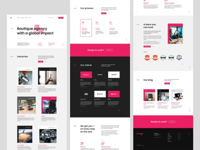 #3 Digital agency landing page softwarehouse branding web typography white onepage ladingpage agency modern minimalism flat homepage design website ux ui