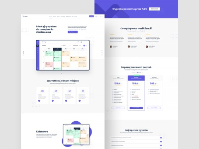 #2 hubeg - Dedicated system for EMS studios user inteface application system managment app webapp typography graphic flat minimalism design homepage studio ems one page landing page website ux ui