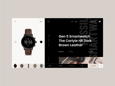 #94 Shots for Practice shop webpage product fashion webdesign concept store dark minimalism typography ecommerce smartwatch watch homepage design website ux ui