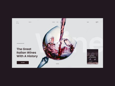 #96 Shots for Practice typography drink web clean minimalism graphic glass concept alcohol bottle wine homepage website design ux ui