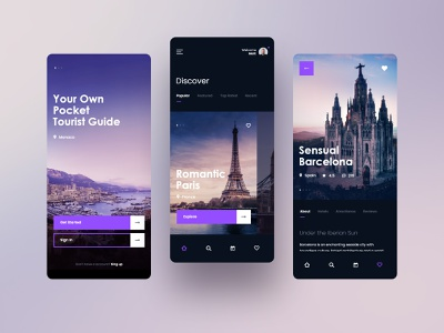 #25 Tourist Guide - MobileApp Concept journey trip mobile app tour concept interface graphic dashboard design ios andorid iphone application tourism travel tourist mobile app ux ui
