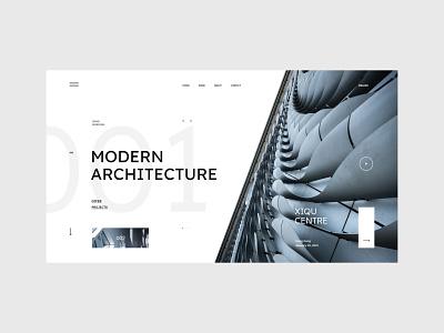 #99 - Concept shots webpage webdesign concept building white clean minimalism typography graphic modern studio architecture homepage website design ux ui