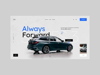 #100 Shots for Practice webpage designer webdesign clean concept web typography auto automotive product homepage minimalism bmw car website design ux ui