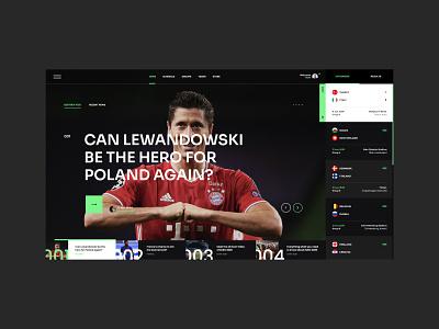 #101 Shots for Practice website concept application footballer designer typography webdesign webapp modern dark app minimalism design homepage website euro2020 sport soccer football ux ui