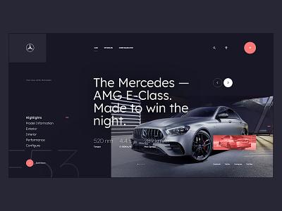 #108 - Concept shots flat designer web webdesign concept vehicle amg car mercedes typography homepage website design ux ui