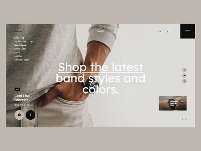 #109 - Concept shots designer webdesign web minimalistic shop store ecommerce apple watch band apple watch typography homepage website design ux ui