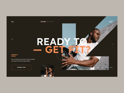 #111 - Concept shots interface graphic design fitness webpage webdesign typography minimalism flat homepage website design excerices tranning sport workout fit ux ui
