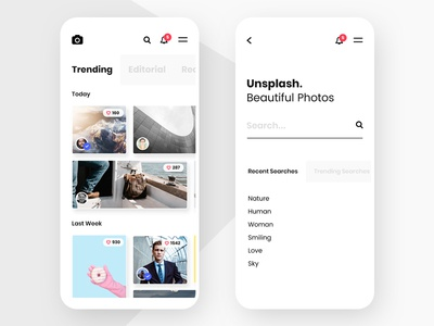 #1 - Unsplash Mobile App Concept