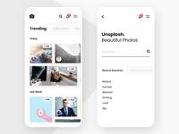 #1 - Unsplash Mobile App Concept