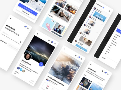 #3 - Unsplash Mobile App Concept