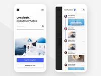 #4 - Unsplash Mobile App Concept