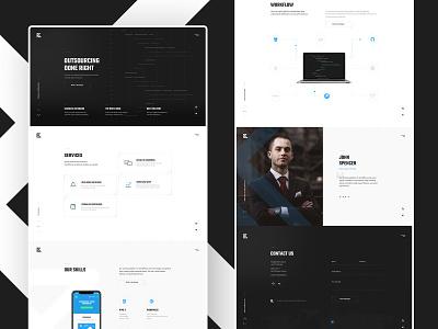 #4 DevTeam - oneapge clean dark icon illustration graphic minimalism flat ui ux website design homepage onepage