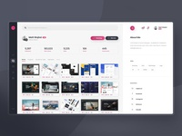 Dribbble Redesign Concept - #3