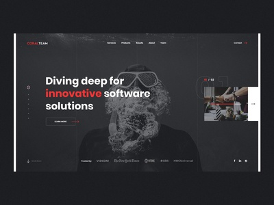 #1 CT softwarehouse portfolio agency company bw black  white black home slider dark modern graphic clean minimalism flat design homepage website ux ui