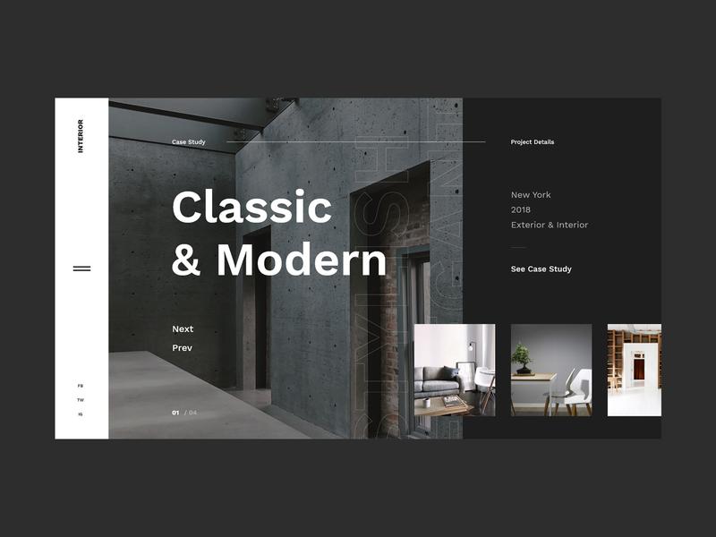 #38 Shots for Practice concept design studio architechture studio exterior interior home slider dark modern graphic clean minimalism flat design homepage website ux ui