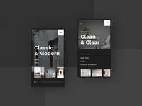 #8 IntertiorStudio - Mobile Website Concept