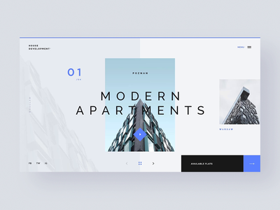 #40.1 Shots for Practice animation motion transition ui ux website homepage design flat minimalism clean graphic modern apartment house home building developer slider concept