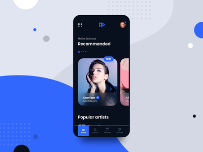 #5 MyMusic - MobileApp Concept Project interaction animation motion transition music song app application design player spotify iphone android phone smartphone concept playlist graphic ui ux