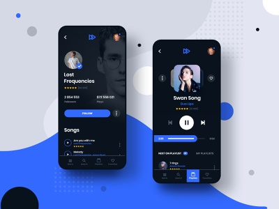 #6 MyMusic - MobileApp Concept Project interaction animation motion transition music song app application design player spotify iphone android phone smartphone concept playlist graphic ui ux