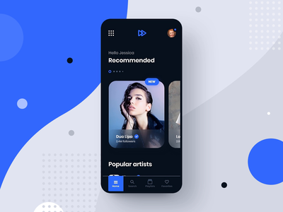 #8 MyMusic - MobileApp Concept Project interaction animation motion transition music song app application design player spotify iphone android phone smartphone concept playlist graphic ui ux
