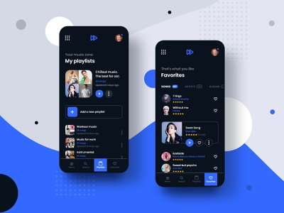 #9 MyMusic - MobileApp Concept Project ux ui graphic playlist concept smartphone phone android iphone spotify player design application app song music transition motion animation interaction