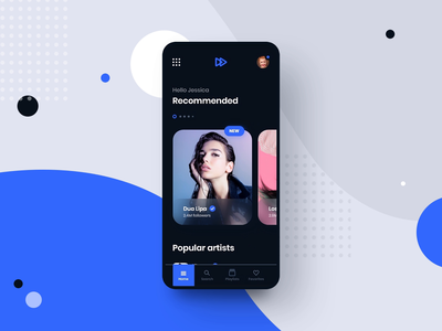 #10 MyMusic - MobileApp Concept Project ux ui graphic playlist concept smartphone phone android iphone spotify player design application app song music transition motion animation interaction