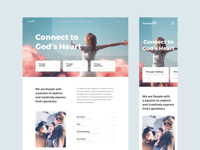 #6 - TasteHeaven webpage behance poem clean minimal branding white religion jesus god flat minimalism homepage design ux website ui