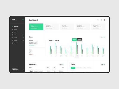 #6 eCommerce Platform ui ux app webapp application user store ecommerce cms platform dashboard panel stats chart graph revenue income shop list flat