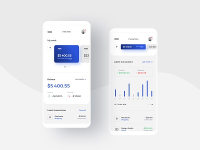 #16 BankApp - Mobile App Concept wallet financial ios android iphone mobile card credit card bank card cash bank money balance finance clean app minimalism flat ux ui