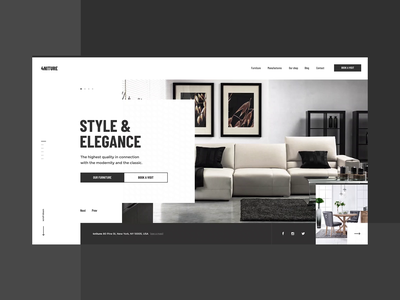 #2 4niture - Homepage p2 intro ecommerce typography elegance luxury white minimalism minimal furniture shop store ux ui website homepage inteaction transition animation video