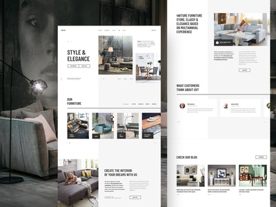 #5 4niture - Homepage v2 p3 typography business websites elegance luxury shop store furniture ecommerce white modern slider clean minimalism flat homepage design website ux ui