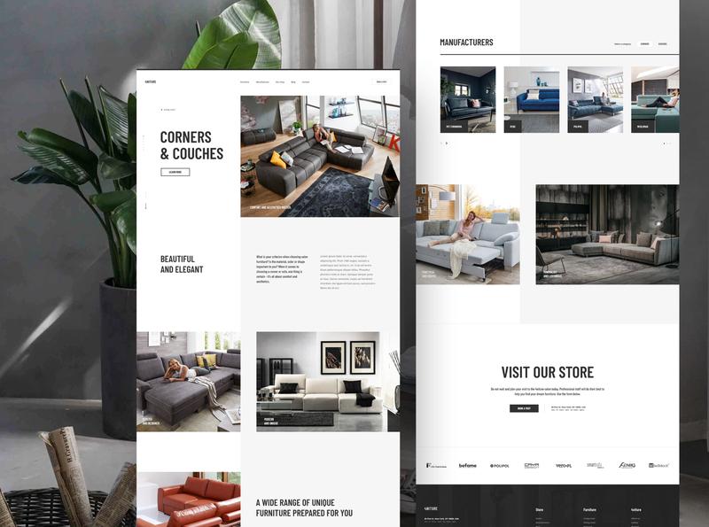#7 4niture - our furnutire minimalistic type category luxury elegance shop store furniture product white clean clear typogaphy modern design website minimalism flat ux ui