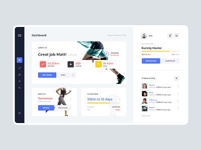 #18-1 RunApp - Webapp Concept health sport shoe clean minimalism web home dashboard panel design webapp application app running runner run ux ui