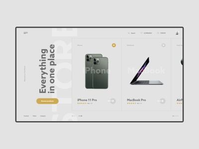 #61 Shots for Practice minimal buy product ecommerce shop store laptop notebook phone grey web dark slider minimalism flat homepage design website ux ui