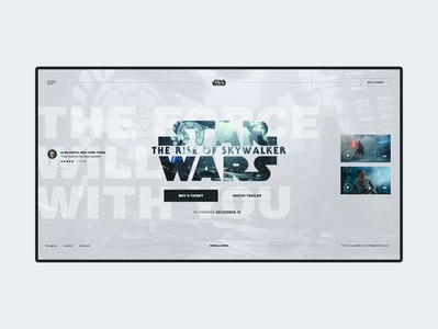#64 Shots for Practice typography graphic cienema theater film sw star wars imdb cinema movie minimalist modern clean minimalism flat homepage design website ux ui