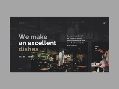 #67 Shots for Practice bar pub ellegant luxury web cook chef dish food restaurant slider dark clean minimalism flat homepage design website ux ui