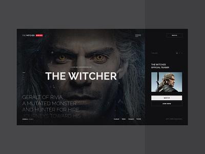 #68 Shots for Practice webpage web  design cinema black film tv series movie hbo imdb witcher netflix concept minimalism flat homepage design website ux ui