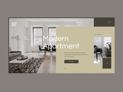 #75 Shots for Practice minimalist typogaphy room concept interior design home house apartment studio interior modern clean minimalism flat homepage design website ui ux