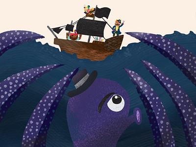 Pirates Ship & Kraken