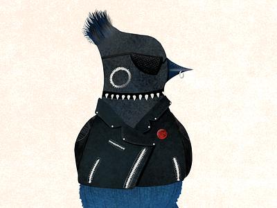 Punk Steller Jay punk bird