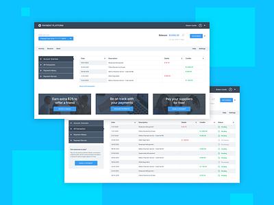 Payment Platform ui design clear dashboad platform payment finance fintech