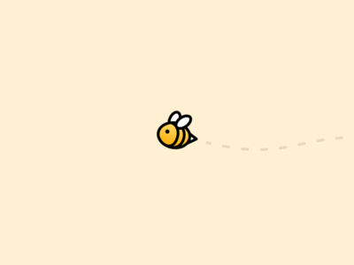 Splitbee Logo bee illustration logo