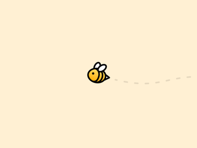 Splitbee Logo bee illustration logo