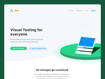 Axcept Landing Page landing page ui figma